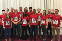 """The """"UiO Astrorunners"""" team at ITA."""