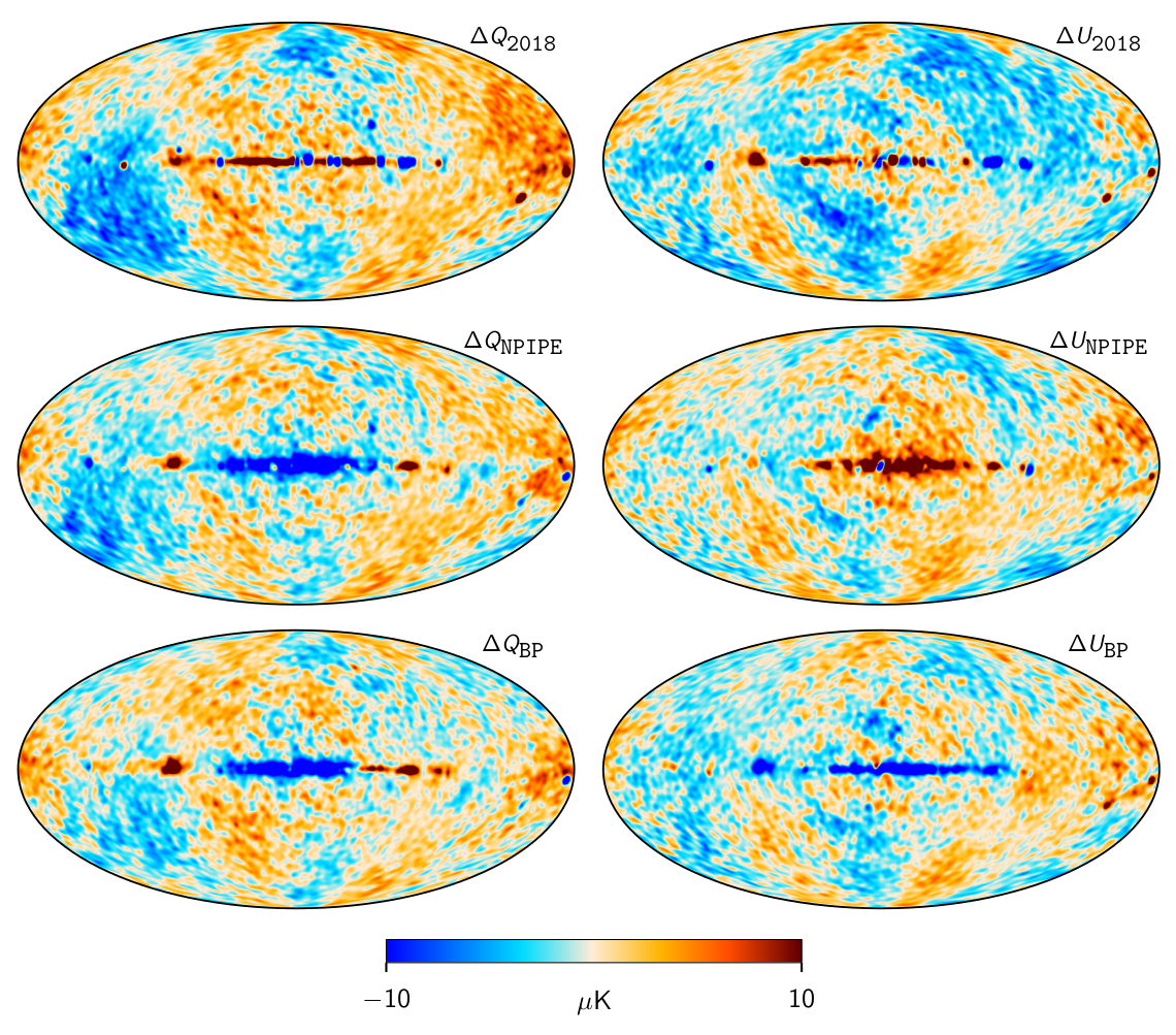 colourful maps of the cosmic microwave background signal
