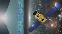 Artistic illustration of LiteBIRD satellite