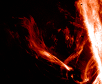 flames structures, solar atmosphere