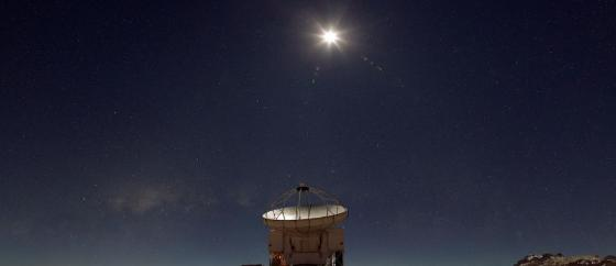 night sky, antenna, astronomical telescope