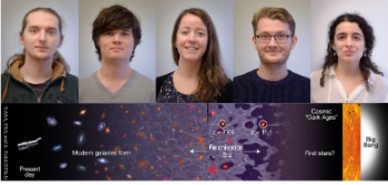 Profile photos of new employees in cosmology group