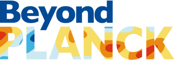 "project logo with text ""BeyondPlanck""in blue, orange, yellow, light blue."