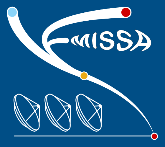 "project logo featuring three antennas, text ""emissa"" on a blue background"