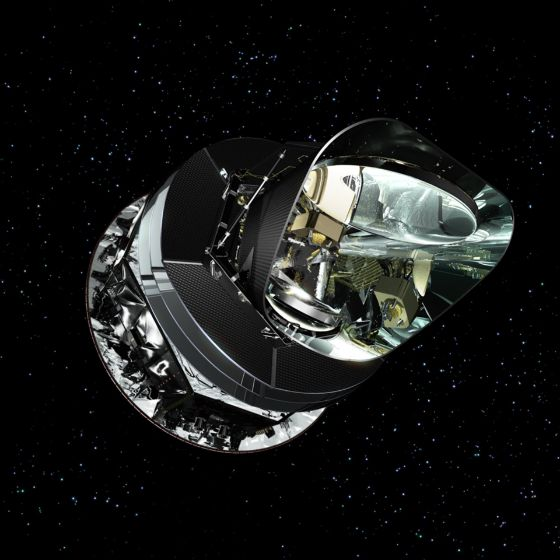 illustration of Planck satellite in space