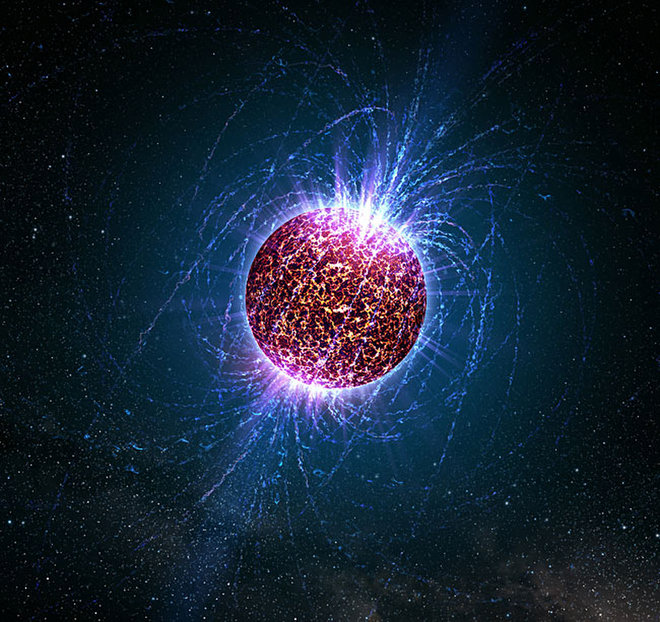 Illustration of a neutron star. Credits: