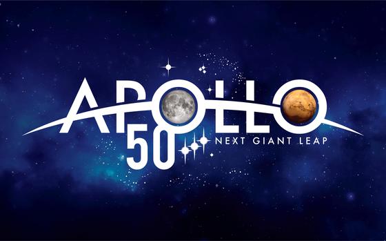 Logo av Apollo 11- 50-årsjubileum
