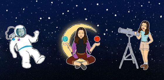 illustrasjon, astronaut, astronom, stjernehimmel, astrolog