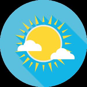 Sol som symboliserer sommer