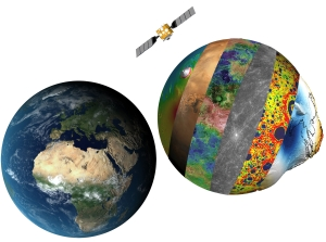 Model: Earth and Beyond. Satellite data is a powerful tool to study the planets in the Inner Solar system. The Earths neighbours planets can lean us more of the evaluation of the Earth. Illustration: CEED
