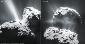Photo 1. Image of 67P/Churyumov-Gerasimenko nuclei (Credits: ESA/Rosetta team)