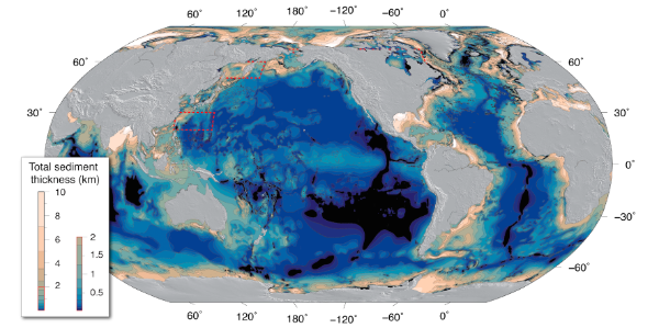 GlobSed: The new world map revealing the thickness of ocean ...