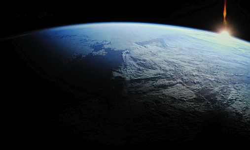 Earth sunrise seen out from space. The methane gas is an extremely effective greenhouse gas, effecting solar energy to warm up the atmosphere. Illustration: colourbox.no