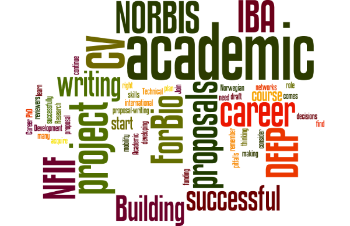 Wordle describing the seminar