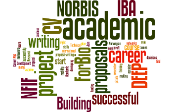 Photo: a wordle on research school themes