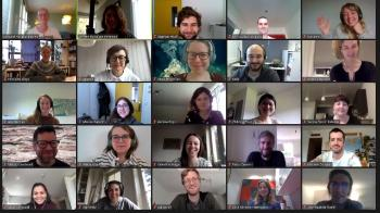 Picture of online course participants