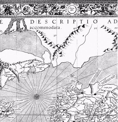 Picture: Barents Sea on the world map by G. Mercator (1569) (source: wikipedia.org)