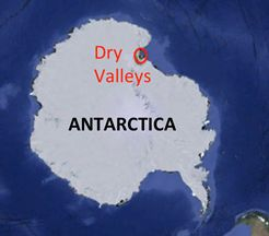 The Dry Valleys are a row of largely snow-free valleys in Antarctica.