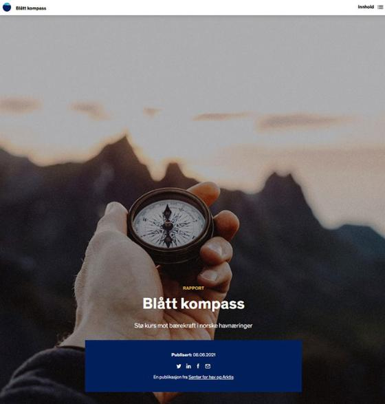 Front page of the Blue Compass report.