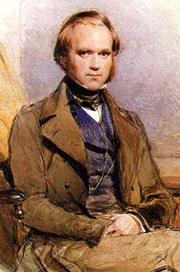 Charles Darwin painted by G. Richmond.