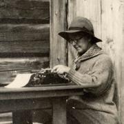 Photo of Kristine E. H. Bonnevie (1872-1948).