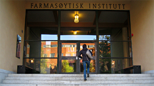 The entrance of the Pharmacy building