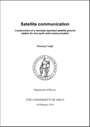 Master thesis satellite