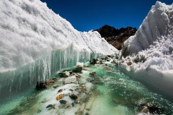 Even if we change our emissions now, we are committed to a lot of ice melt, says Prof. Kääb. Photo:Sharada Prasad CS (CC BY 2.0)