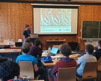 Bas Altena at the Innsbruck Summer School of Alpine Research 2019. This one-week long summer school in June was held for the third time. Venue was Obergurgl (Austria). Photo: Katharina Anders, University of Heidelberg, Germany
