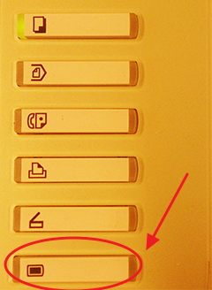 SafeCom button on Ricoh machines
