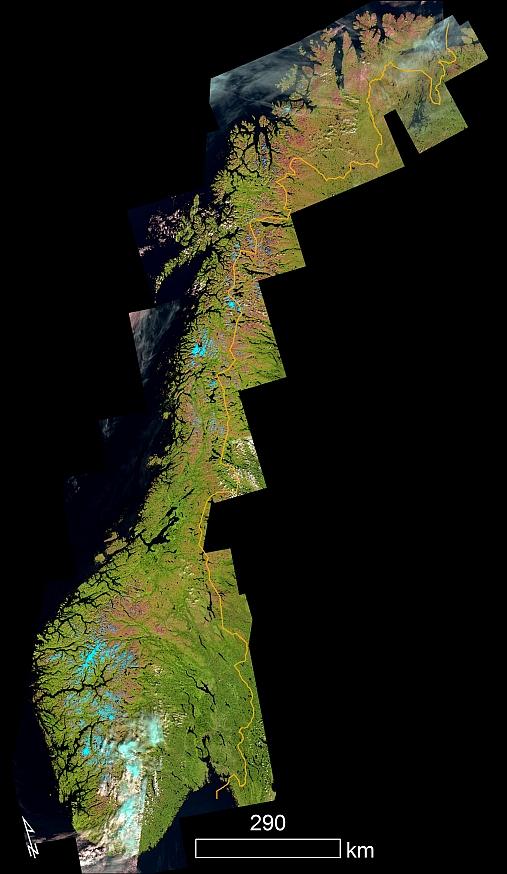 Ser Norge Fra Rommet Sentinel 2 Institutt For Geofag