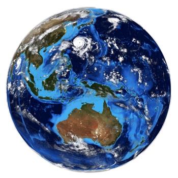 LIKE MYE SOM SVARTEHAVET:En havbunnsplate presses ned mot Jordens indre når den kolliderer med en kontinentalplate eller en annen havbunnsplate. I løpet en million år forsvinner like mye vann som hele Svartehavet gjennom subduksjonssonene. En del av vannet returnerer i løpet av et par tusen år til Jordens overflate via eksplosive vulkaner. Resten av vannet forsvinner ned i mantelen. Noen forskere mener at så mye som halvparten av hele vannreservoaret på Jorden befinner seg i Jordens indre. Foto: MostPhotos