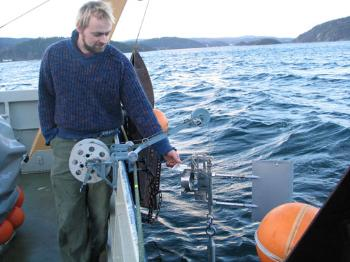An example for a measurement instrument used in physical oceanography - Ekman Current meter. Photo: Eyvind Aas, Department of Geosciences