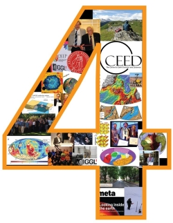 Logo for four years-jubilee. Logo: CEED