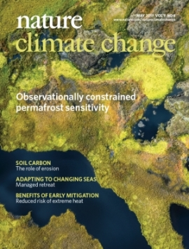 On the cover: Aerial photos of decreasing permafrost taken by researchers from UiO on the front cover for the May issue of Nature Climate Change. Link to the journal.