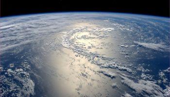 Stillehavetslik det blir settfra Den internasjonale romstasjonen/ISS.Foto: NASA/ESA
