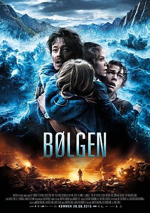Bølgen er Skandinavias første katastrofefilm og viser hva som kan skje om fjellmassivet Åkneset løsner og sklir ut i Storfjorden. Foto: Nordisk Film