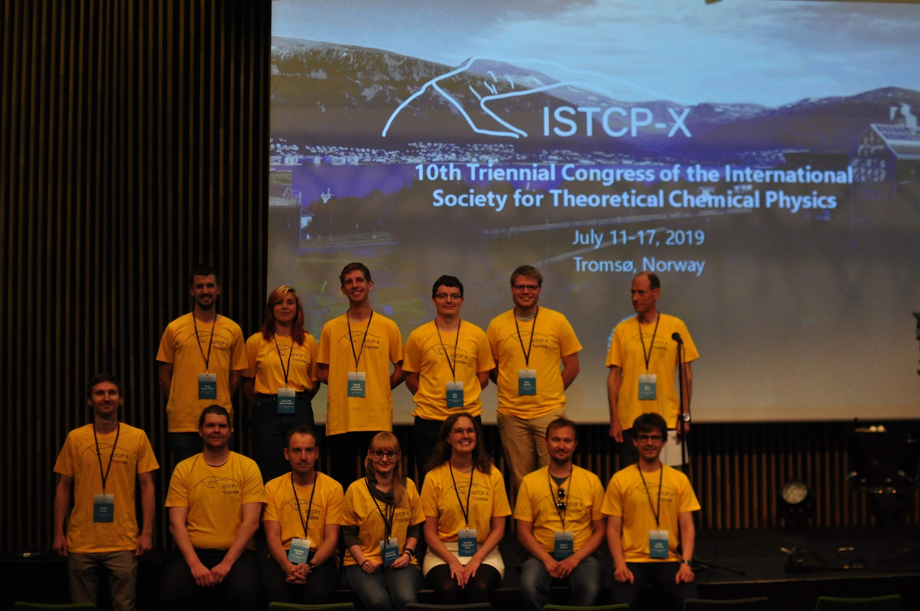 13 of the 17 staff members that were hard at work during the conference. Picture: Luca Frediani