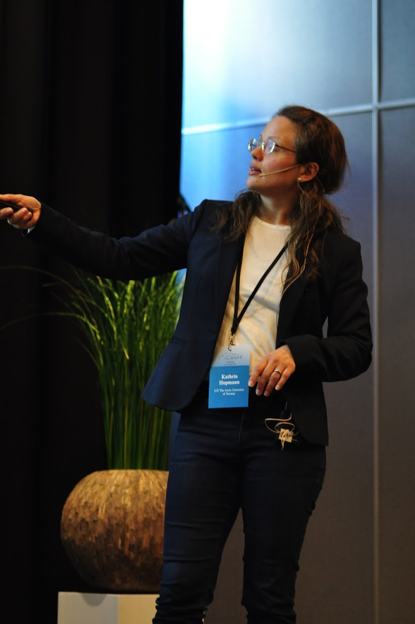 Hylleraas PI Kathrin Hopmann presenting her lecture on how to ensure your reaction mechanism is correct. Photo: Luca Frediani