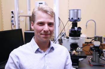 PhD student Einar Eftestøl at the Department of biosciences (University of Oslo)