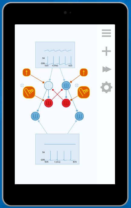 Neuronify, neural network simulator app and paper describing