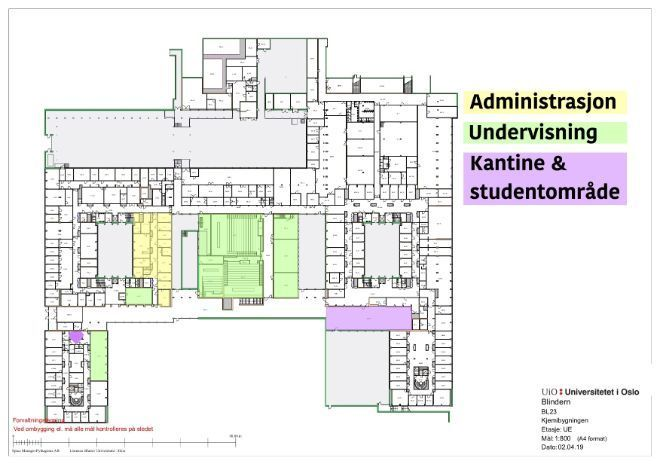 Plan of the first floor of the Chemistry building.