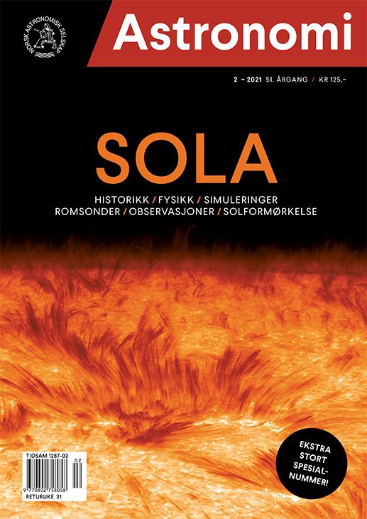 Magasinforside som viser nærbilde av sola