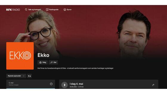 Bilde av programlederne for EKKO, NRK