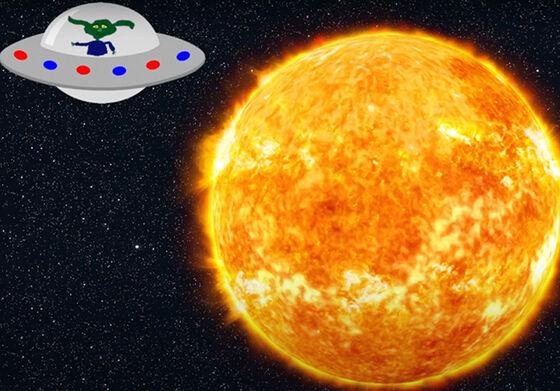 romskip og sola