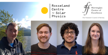 photo collage of four portrait photos of young phd students