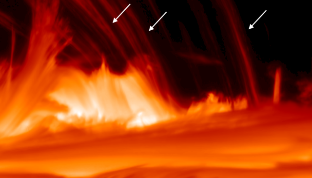 flame, heat, solar atmosphere