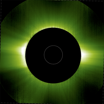 The Sun's corona in visible light on 21 June 2020