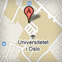map with a pointer to the University of Oslo